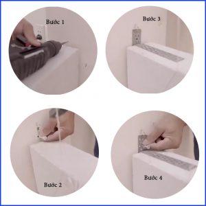 4 bước bắt bas neo vào tường